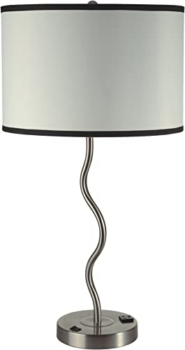 Ore International 6224T-A Ivory Wave Table Lamp