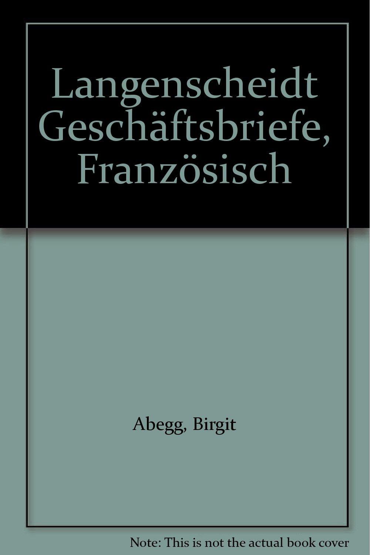 Langenscheidt Geschäftsbriefe Französisch Amazonde Birgit Abegg