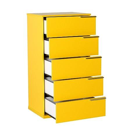 Salón Tienda en línea Kit Mueble cajonera con 5 cajones Amarillo ...
