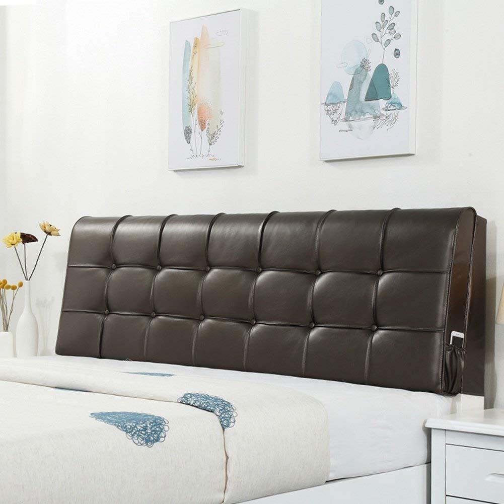 ベッドヘッドクッションクッション枕クッション畳ソフトバッグダブルベッド防水レザー枕シンプルでモダンな洗える枕クッションヘッドボード、5色 (Color : 4#, Size : No headboard-150cm) B07SQY3RGW 4# No headboard-150cm
