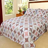 Lavish Home Charlotte Quilt 3 Piece Set - Full-Queen