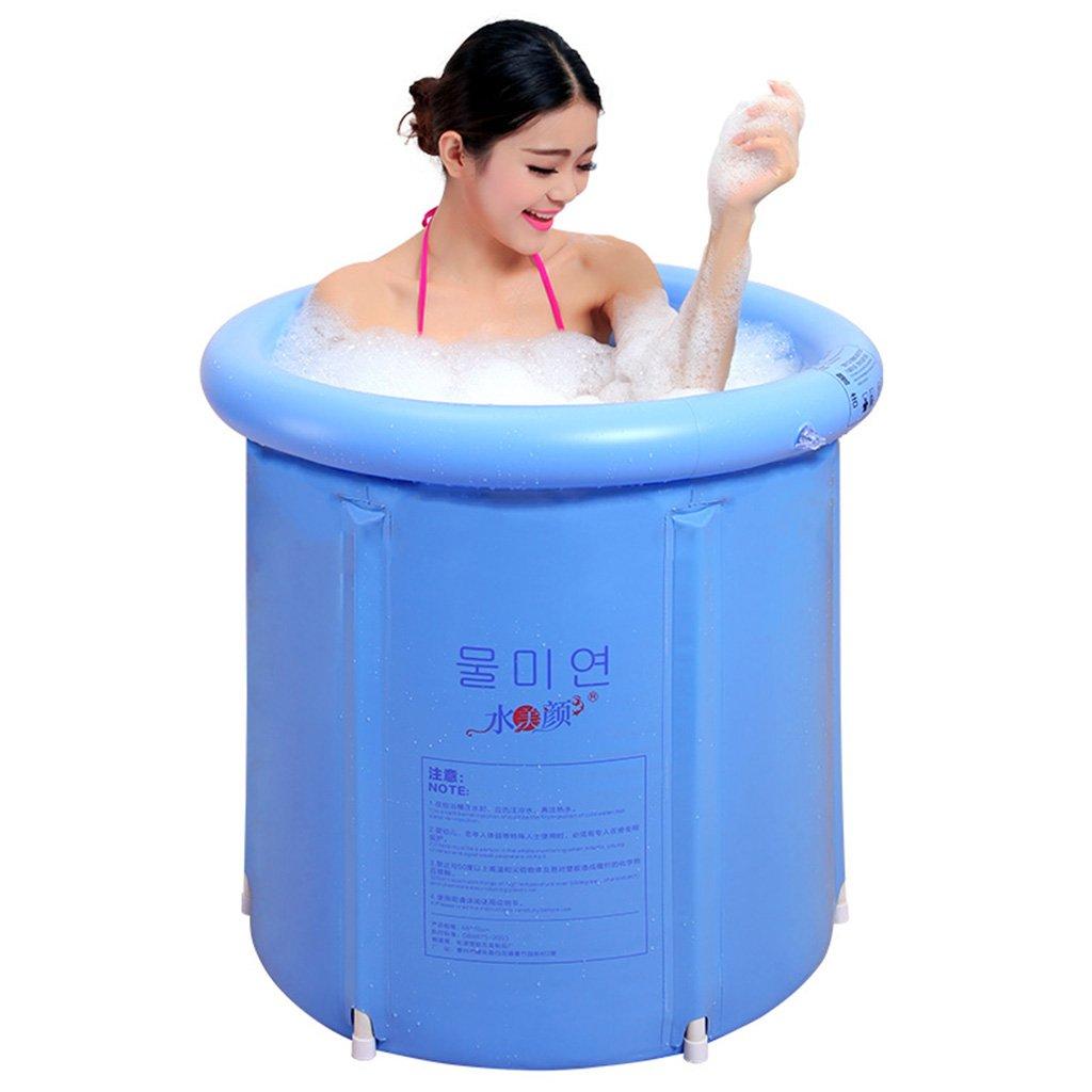 Mode nach Hause ZHILIAN® Erwachsene Kinder Bad Tub Plastic Thicker Home Aufblasbare Badewanne (blau, 75  75cm) (Größe    1)