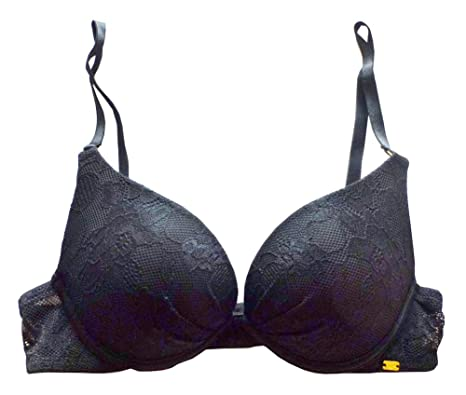 944ed5dcdd8c7 PRIMARK By Secret Possessions Make An Impact Black Over Lace Cleavage Boost  Gel Push Up Bra UK36B EUR80B  Amazon.co.uk  Clothing