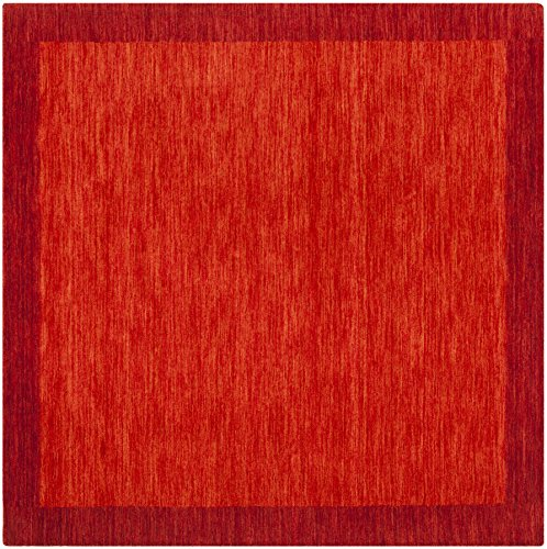 Safavieh Himalaya Collection HIM587A Red Wool Area Rug (6' Square) (Square 6sq)