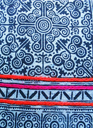 Candle Kham Wieng Clutch Patterned Women's Tribal Khum Scalable Fabric White Bag Foldable Handbag w0Tqxd5