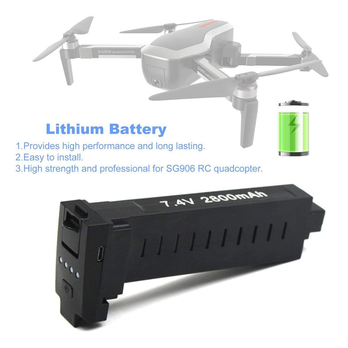 Rouku RC Drone 7.4V 2800Mah Batería Lipo Estable Mejorada 2 Piezas ...