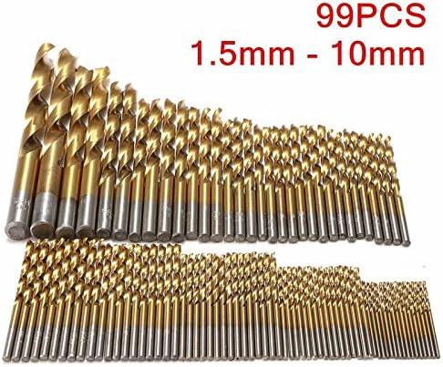 Metallbohrer Spiralbohrer Handspiralbohrer 1.5mm HSS Bohrer Set 99 Tlg 10mm