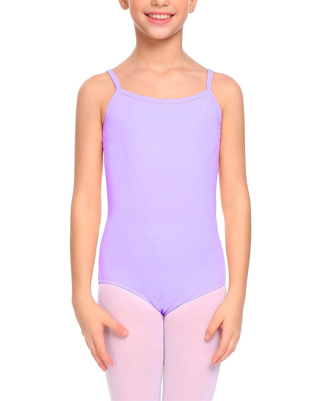 Kidsmian Little Girls Camisole Leotard with Cross Straps Back Dance Ballet Gymnastics