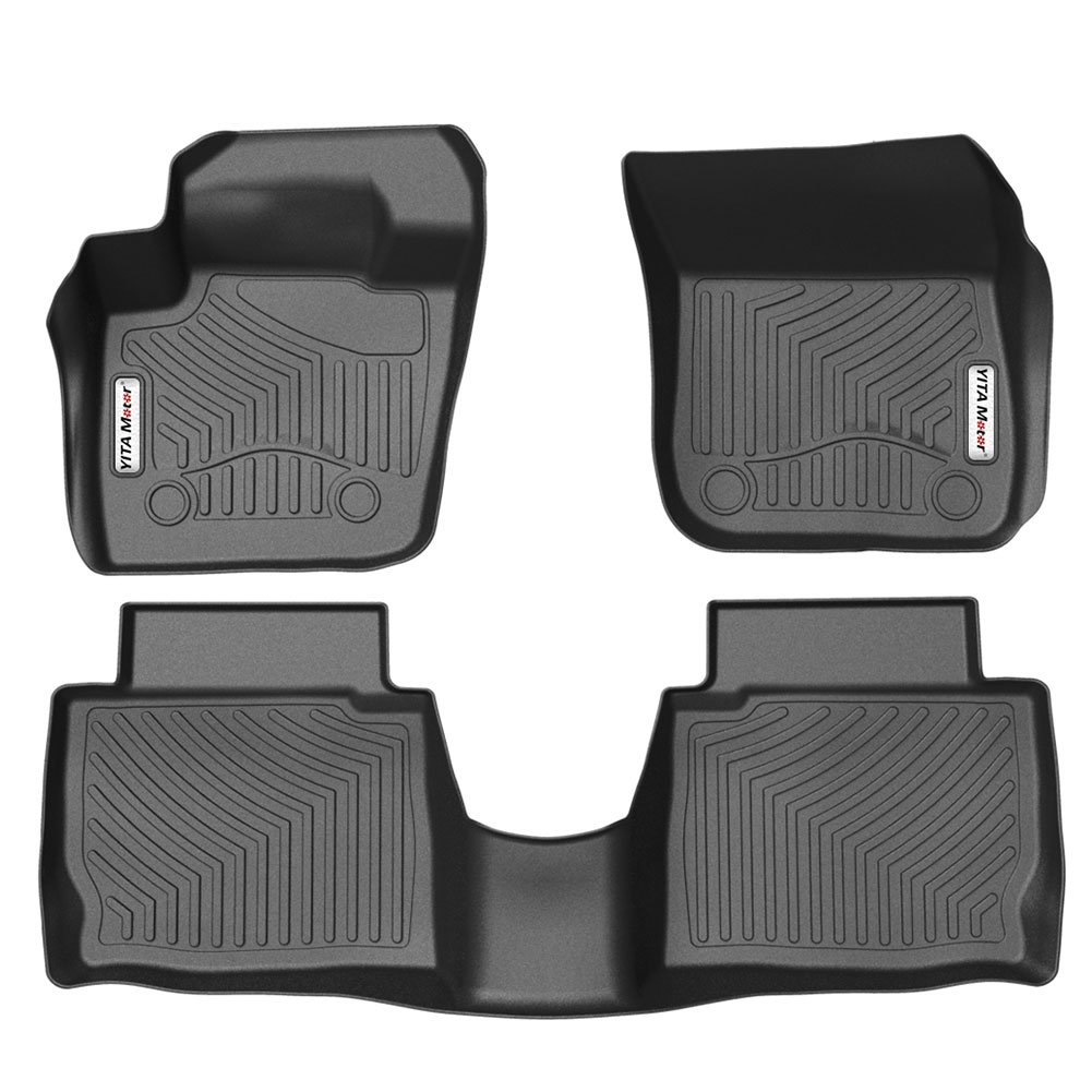 Amazon.com: YITAMOTOR Floor Mats Compatible for 13-16 Ford Fusion  Energi/Titanium / Lincoln MKZ, Includes 1st Front & 2nd Seat All Weather  Protection Floor ...