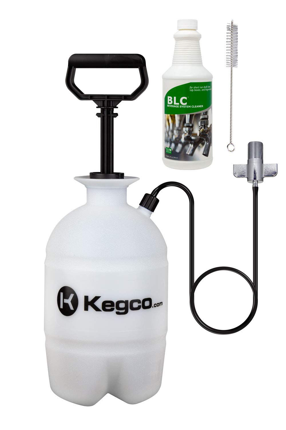 Kegco Deluxe Hand Pump Pressurized Keg Beer Cleaning Kit PCK with 32 Ounce National Chemicals Beer Line Cleaner by Kegco