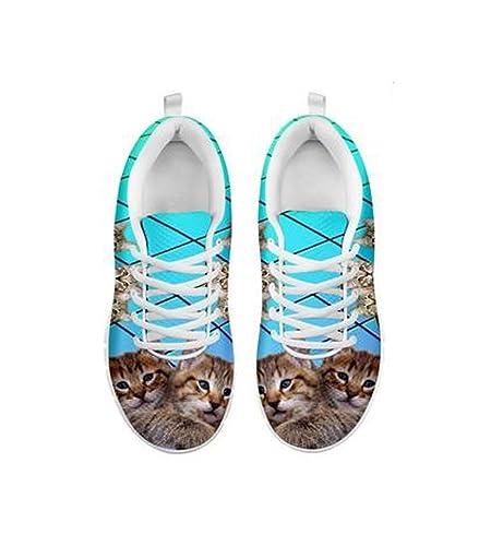 Shoetup - Estampado de Gato para Mujer: Amazon.es: Zapatos y complementos