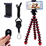 Phone Tripod, Ibeston Octopus Tripod for iPhone/Universal Smartphone/Cell Phone/Camera Arbitrary Installed with Remote…