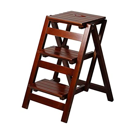 Pleasing Amazon Com Hong Jie Yuan Solid Wood Household Ladder Gmtry Best Dining Table And Chair Ideas Images Gmtryco