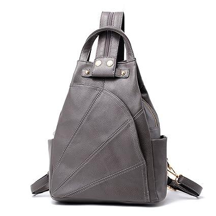 RFVBNM Backpack women s doubles shoulder bag female bag leisure Waterproof  PU Leather Backpack Lady bag girl 0aa9ca4f184f4