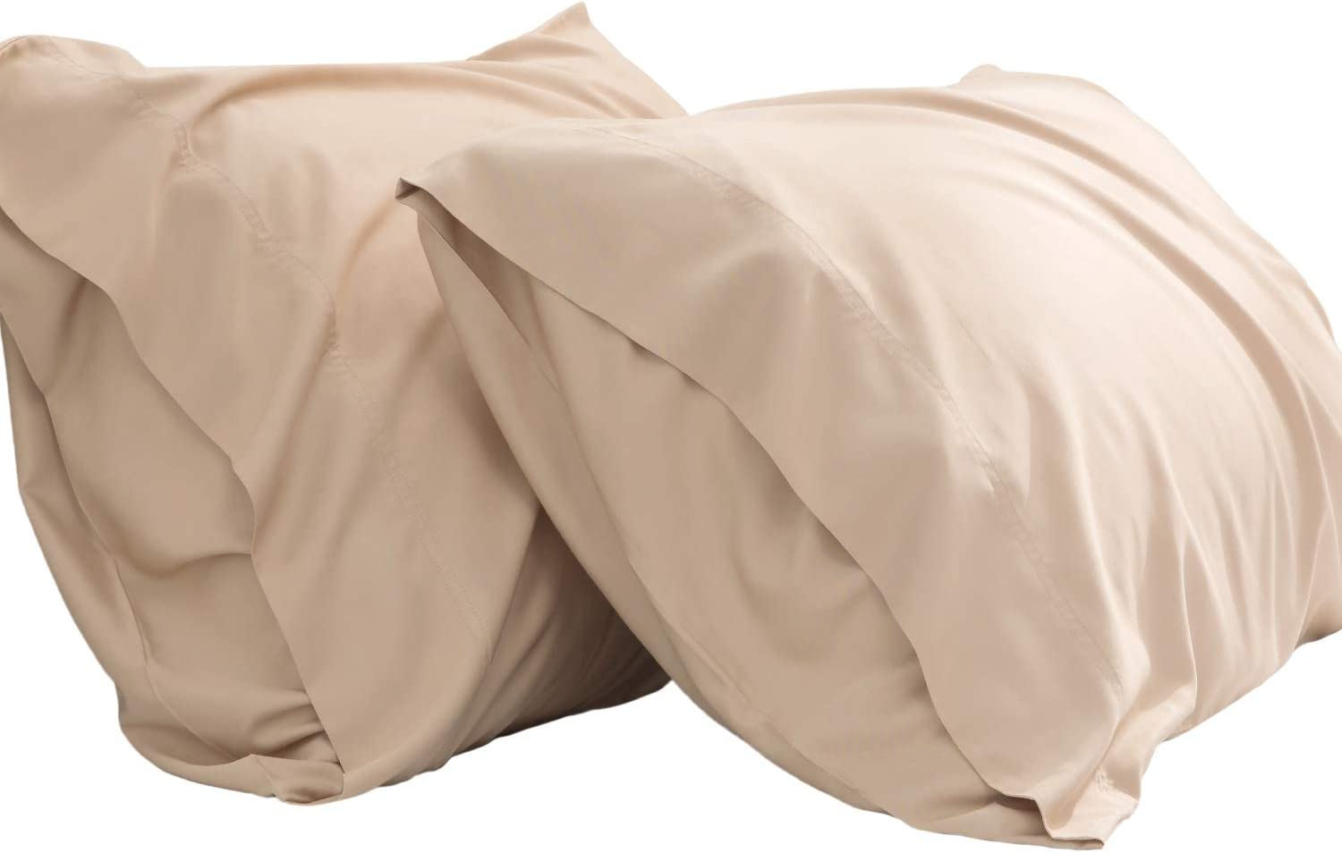 Bedsure Cooling Bamboo Pillowcases Set of 2 - Breathable Cool Ultra Soft Pillow Cases - Viscose from Bamboo - Organic Natural Silky Material, Moisture Wicking(Tapue, Queen Size 20x30 inches)