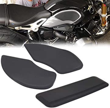 Fit BMW R NineT 2014-2017 Tank Traction Pad Side Gas Knee Grip Protector Black