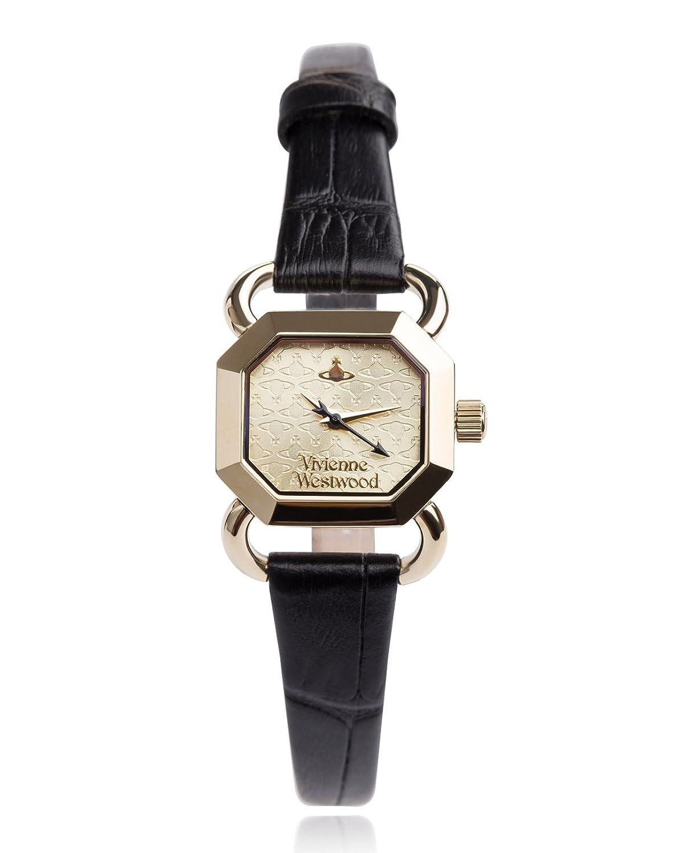 Vivienne Westwood Damen-Armbanduhr Ravenscourt Analog Quarz Leder VV085GDBK