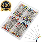 SUBANG 400 Pieces Sewing Pins Glass Head Multicolor Pins for Dressmaking Jewelry Components Flower Decoration With Transparent Cases