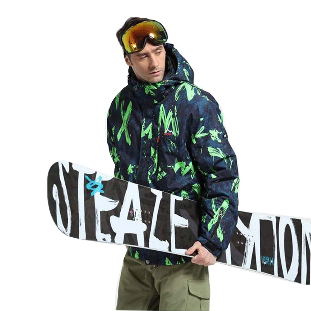 Yiwuhu Giacca da Uomo Uomo Uomo Ski Suit Veneer Double Board Sci Alpinismo Antivento Impermeabile Caldo Sport all'Aria Aperta Abbigliamento da Sci Invernale Ideale (Coloreee   verde, Dimensione   XXXL)B07MJZRZFDLarge verde | Il Più Economico  | riparazione  | Lo  b376a1
