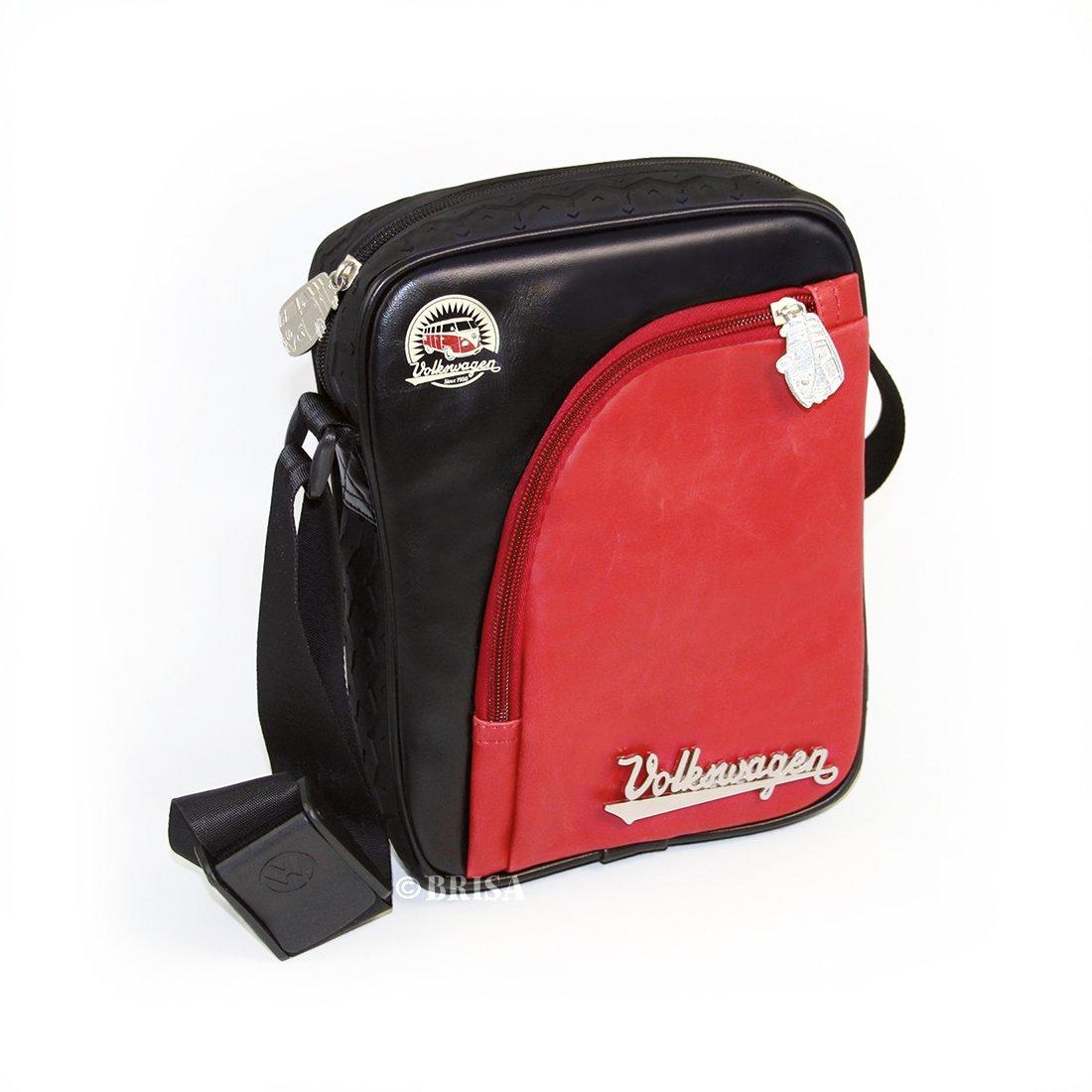 VW Collection by BRISA Genuine Volkswagen T1 Bus Shoulder Bag Messenger Bag, Small, Black