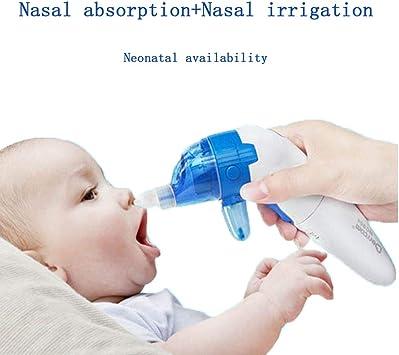 WSJS Aspirador Nasal para bebés 2 en 1 Kit de Enjuague para Senos eléctricos Limpiador para Enjuague Nasal recién Nacido Rinitis Alergia profundamente Limpia para bebés y niños pequeños: Amazon.es: Deportes y