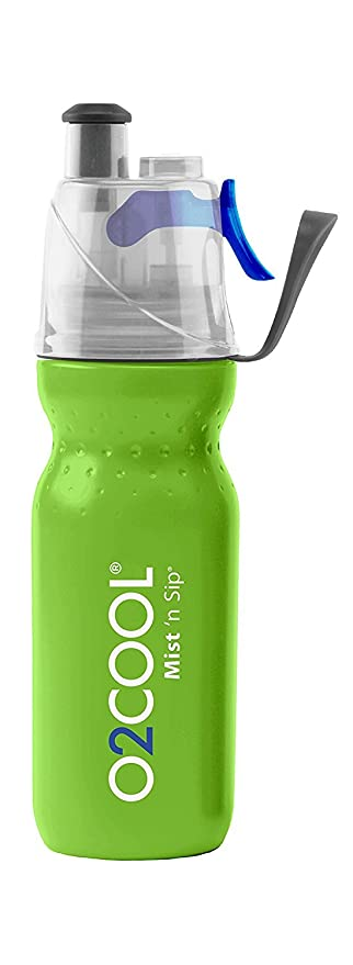 a530424329 O2 Cool Mist 'N Sip Drinking and Misting Bottle ArcticSqueeze Classic Green  Open Box
