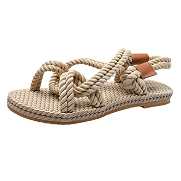 59e2a085ab9d4 Amazon.com: ❤ Sunbona Women's Flat Slippers Ladies Summer Large ...