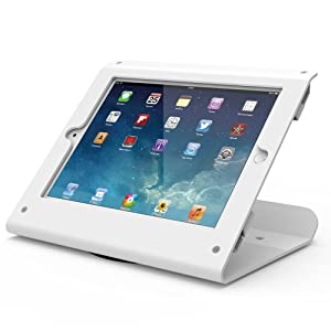 Kiosk iPad Stand - 360 Swivel Base,iPad Retail Stand for iPad Air 1,Air 2,Pro 9.7,iPad 5th,iPad 6th, White, BSC102W - Beelta