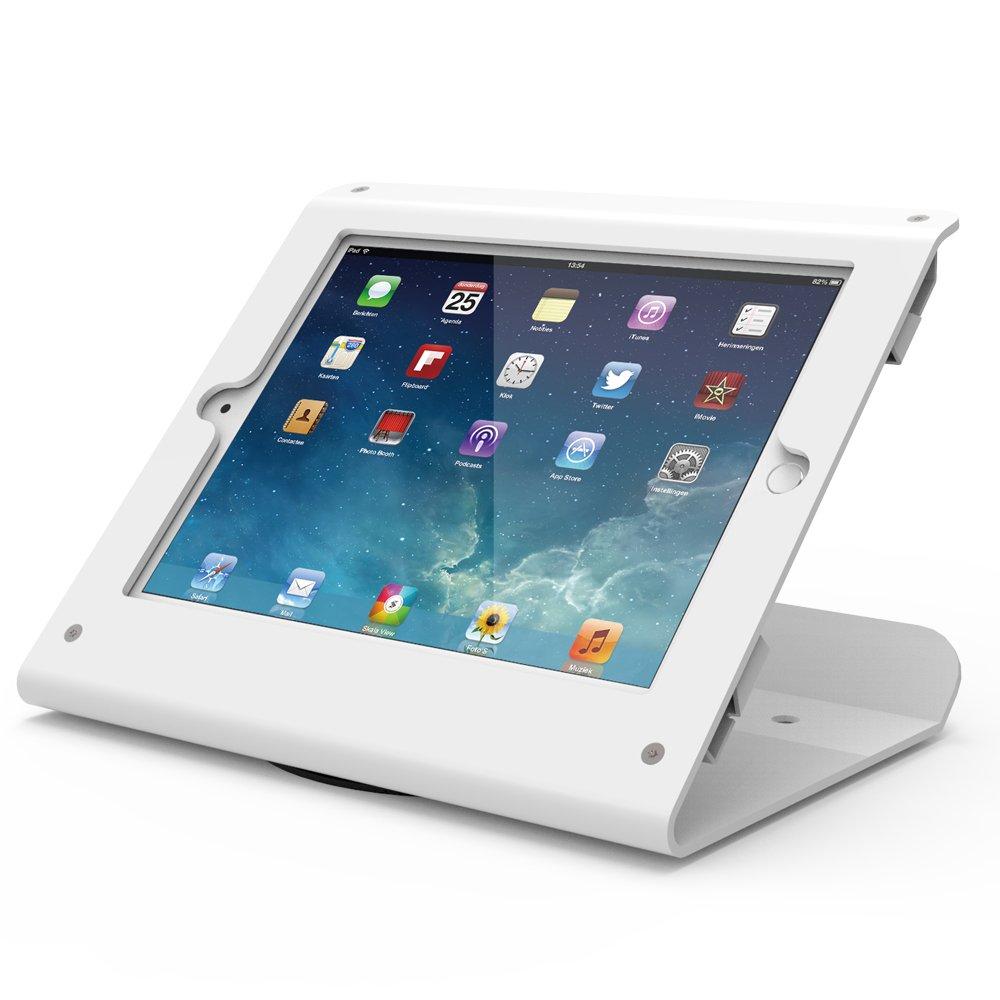 Beelta Kiosk iPad Stand - 360 Swivel Base,iPad Retail Stand for iPad Air 1,Air 2,Pro 9.7,iPad 5th,iPad 6th, White, BSC102W