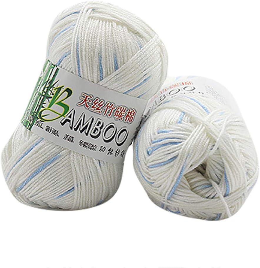 Todidaf, 50 g de algodón de bambú, hilo suave y cálido, para hacer ...