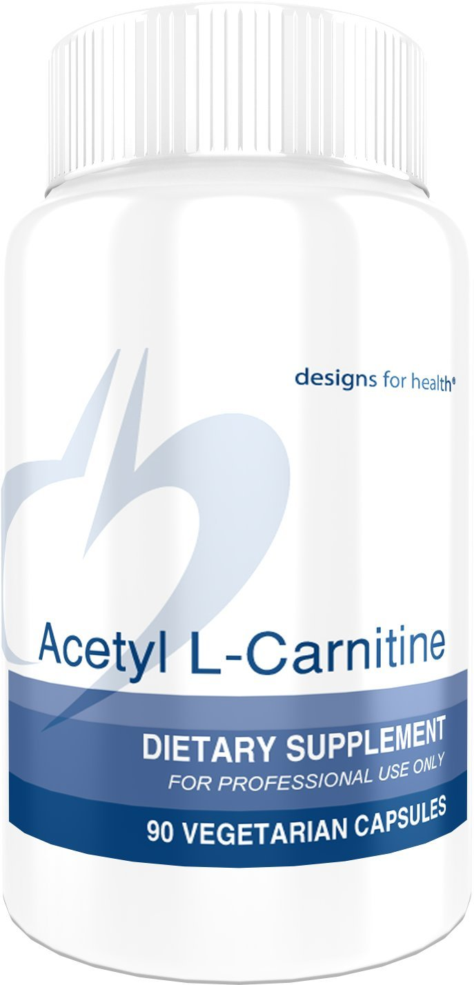 Designs for Health 800mg Acetyl L-Carnitine Capsules - Extra Strength Acetyl L-Carnitine HCl (90 Capsules)