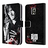 Official AMC The Walking Dead Wounded Hand Gore Leather Book Wallet Case Cover For Samsung Galaxy S5 Active
