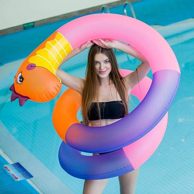 kangbaby Anillo de natación Inflable en Forma de Serpiente ...