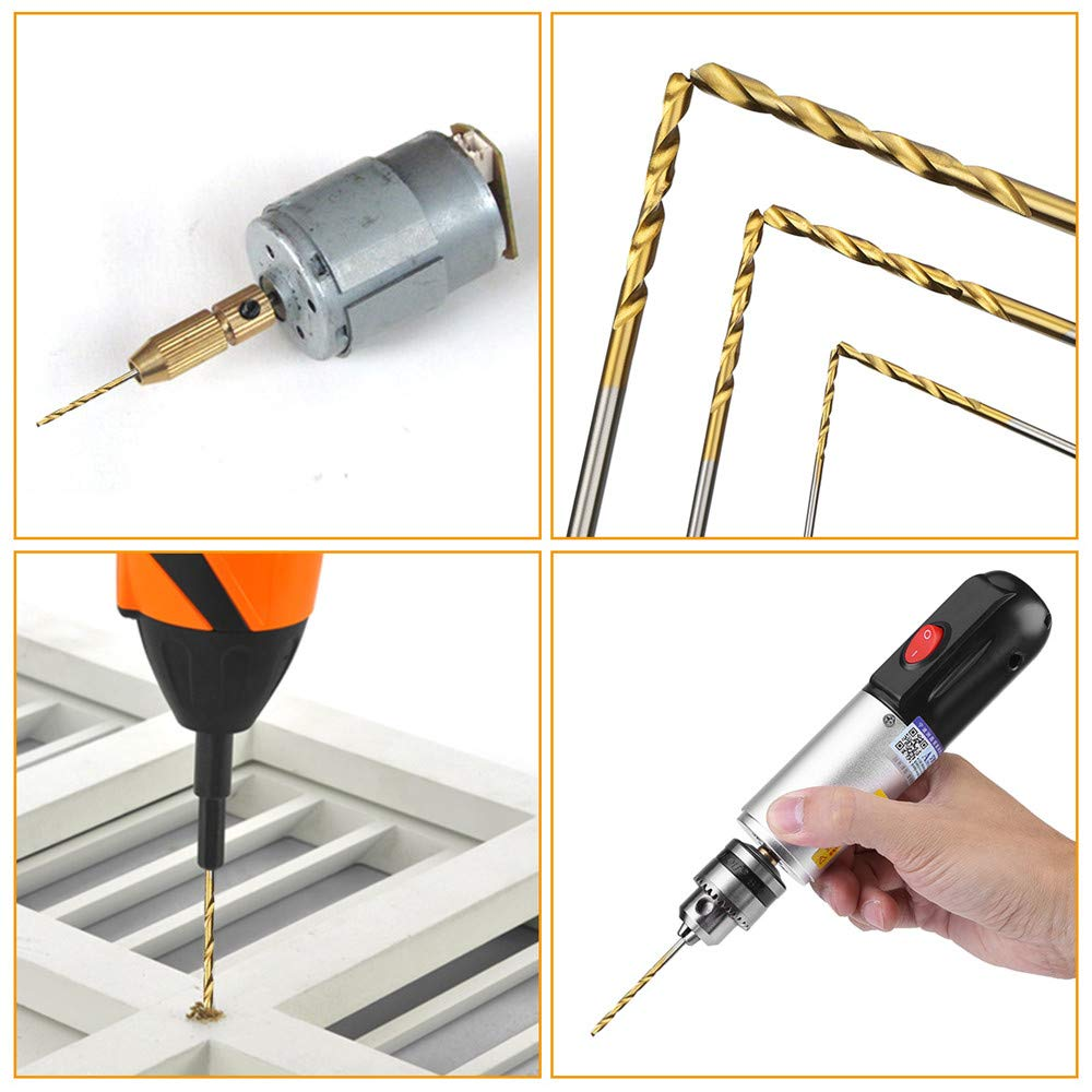 LudoPam Drill Bits Set 60 Pcs,HSS Titanium Micro Twist Drill Bits for Wood Plastic Aluminum Alloy Soft Metal 1//8 1//16 3//64 5//64 3//32 7//64 Inch