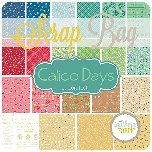 Calico Days Scrap Bag (2 pcs) - Lori Holt - Riley Blake 2 yards of random size scraps DIY quilt fabric - Calico Quilt Shop