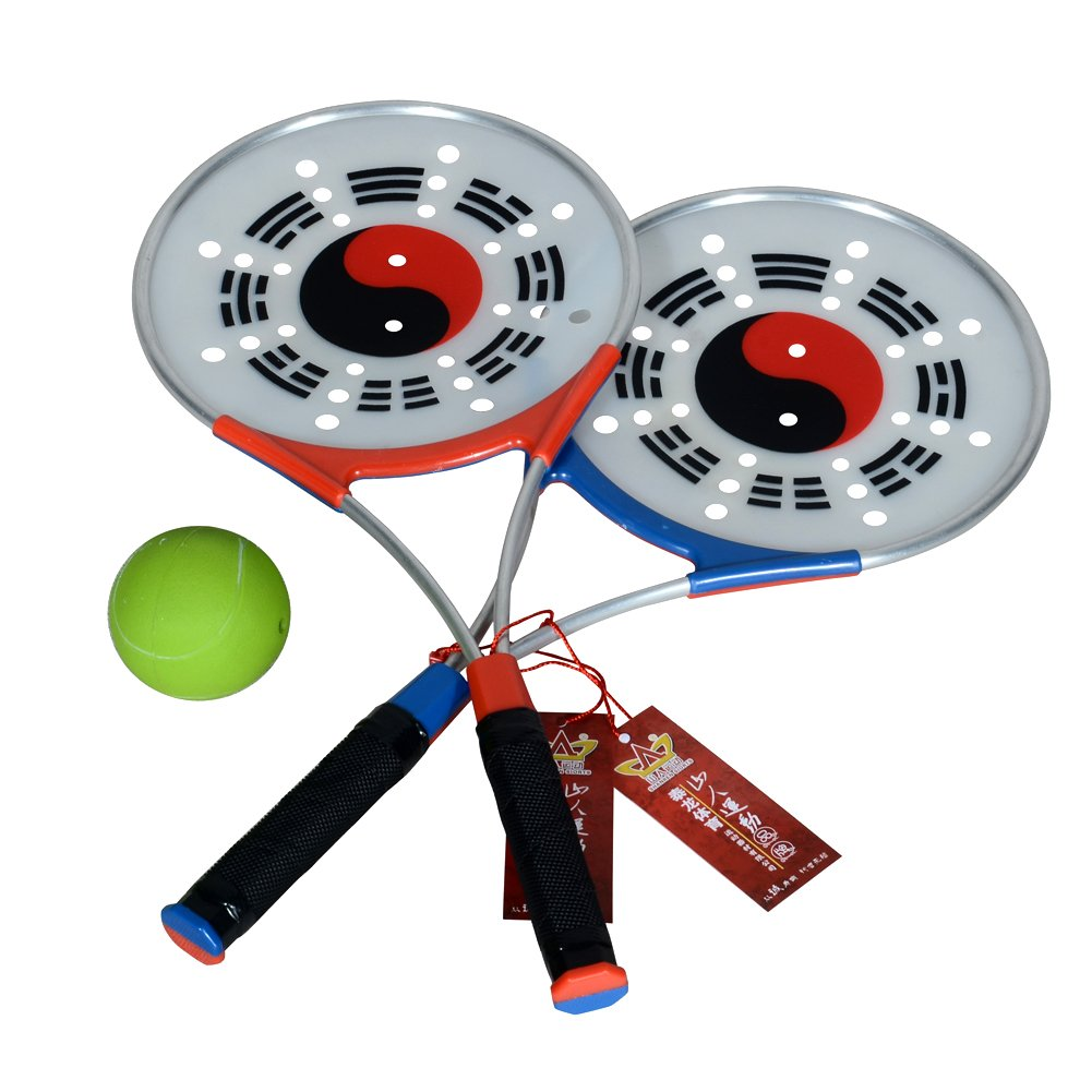 Shan Ren Sports Soft Strength Ball Racket with Tai Chi Flow Ball with 2 Racket and 2 Inflatable Ball and 1 Bag