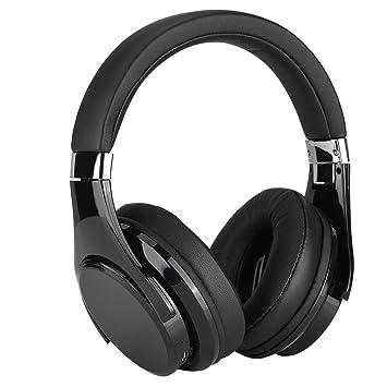 Auriculares de Diadema con Control Táctil, Auriculares Inalámbricos Bluetooth Pegable Estérero Hi-Fi con Micrófono Reduzca el Ruido para iPhone Mac y TV: ...