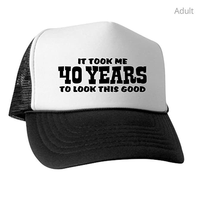 d382b35252b Amazon.com  CafePress - Funny 40Th Birthday - Trucker Hat
