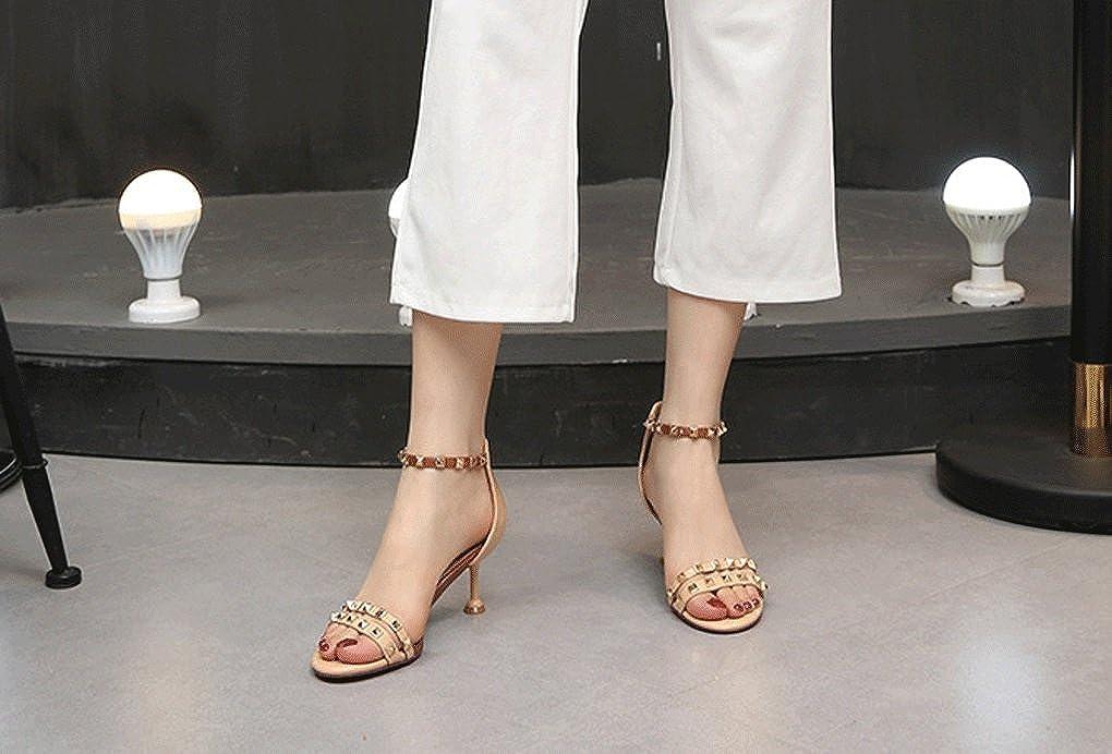 Shanxi Yaoyao Yeye Versione Trading Co, Ltd. Sandali Estivi Femminile Versione Yeye Coreana Rivestito in Pelle Verniciata Sandali con Tacco Sottile Scarpe col Tacco Alto Moda #3 f81402