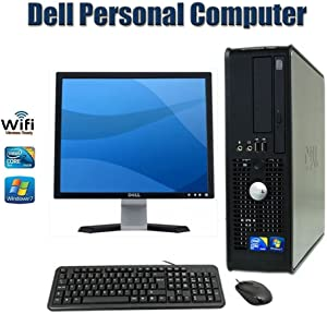 Sale !!! Dell OptiPlex 780 SFF Desktop Computer with 17 Inch Dell Monitor- Intel Core 2 Duo 2.93 GHz 4GB RAM 160GB HDD DVD ROM Windows 7 Pro 64 Bit Keyboard, Mouse - WiFi