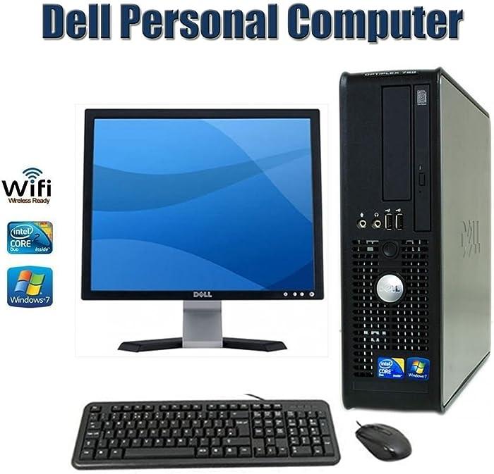 Sale !!! Dell OptiPlex 780 SFF Desktop Computer with 17 Inch Dell Monitor- Intel Core 2 Duo 2.93 GHz 4GB RAM 160GB HDD DVD ROM Windows 7 Pro 64 Bit Keyboard, Mouse - WiFi