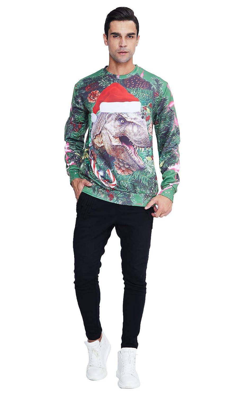 uideazone Unisex 3D Impreso Feo Navidad Jersey Sudaderas Navidad Camiseta