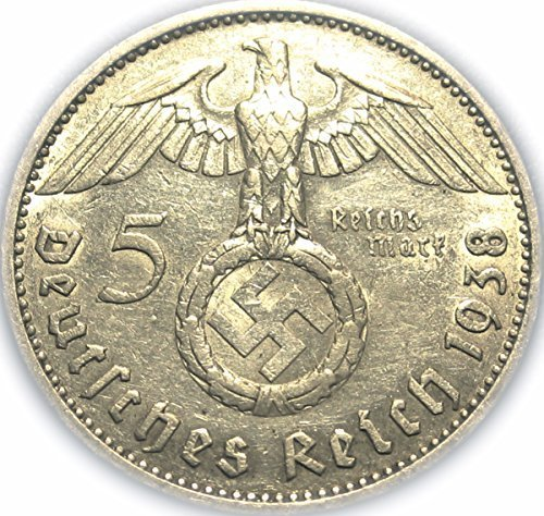 Germany - German Silver Five Reichsmark Coin A Mark Coins