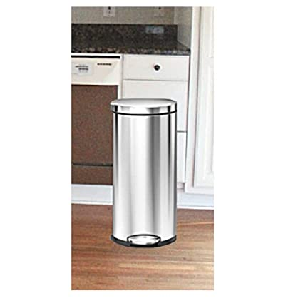 Amazon.com: Stainless Steel Trash Can Lid Silver Metal ...