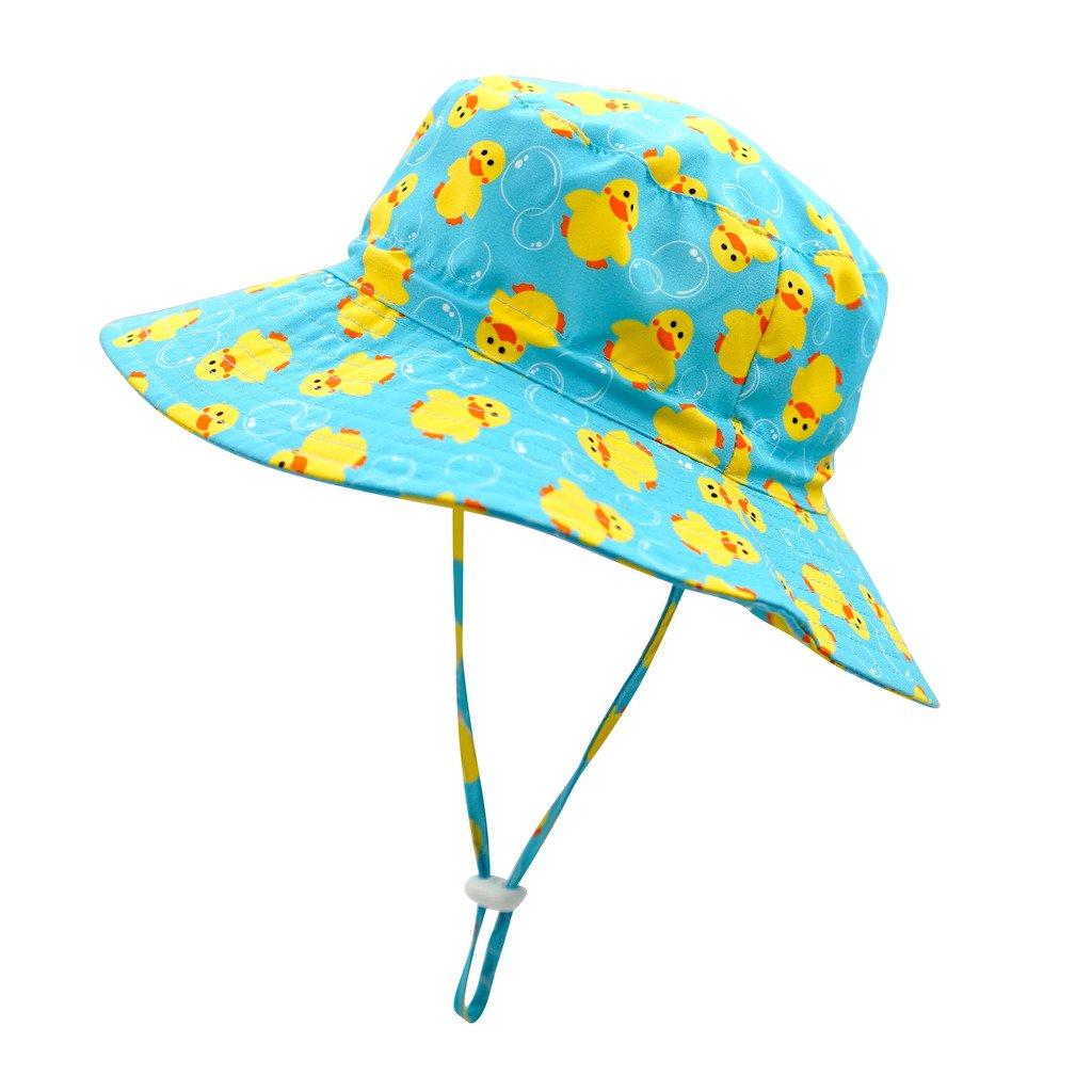 Home Prefer UPF 50+ Kids Safari Hat Daily Bucket Hat for Boys Girls Sun Protection Hat Duck #52