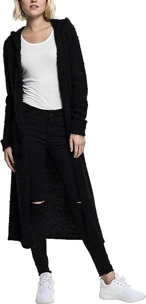Urban Classics Ladies Hooded Feather Cardigan Sudadera con Capucha para Mujer