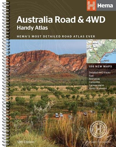 Australia Road and 4WD handy atlas B5 spiral 2018: HEMA.A.002SP