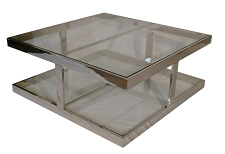 Badly Bitten Couchtisch Shelsea 100x100 Wohnzimmer Sofa Glas Tisch