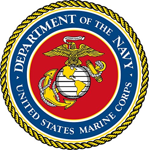 CLR Decals USMC Naval Seal Military Veteran full color window decal (Clr Seal)