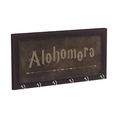Harry Potter Inspired Alohomora Key Holder, Brown/Espresso Frame, 13-1/2  x 7-1/2  With 6 Hooks